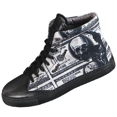 Skulllism High Top_Dollar