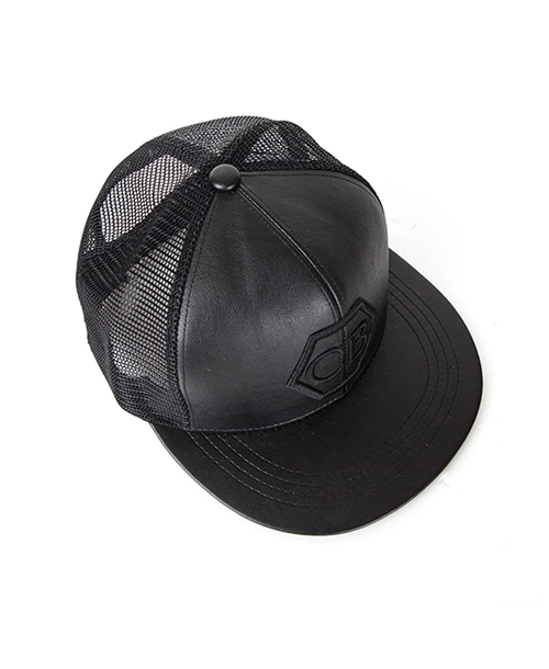 CB LEATHER MESH SNAPBACK
