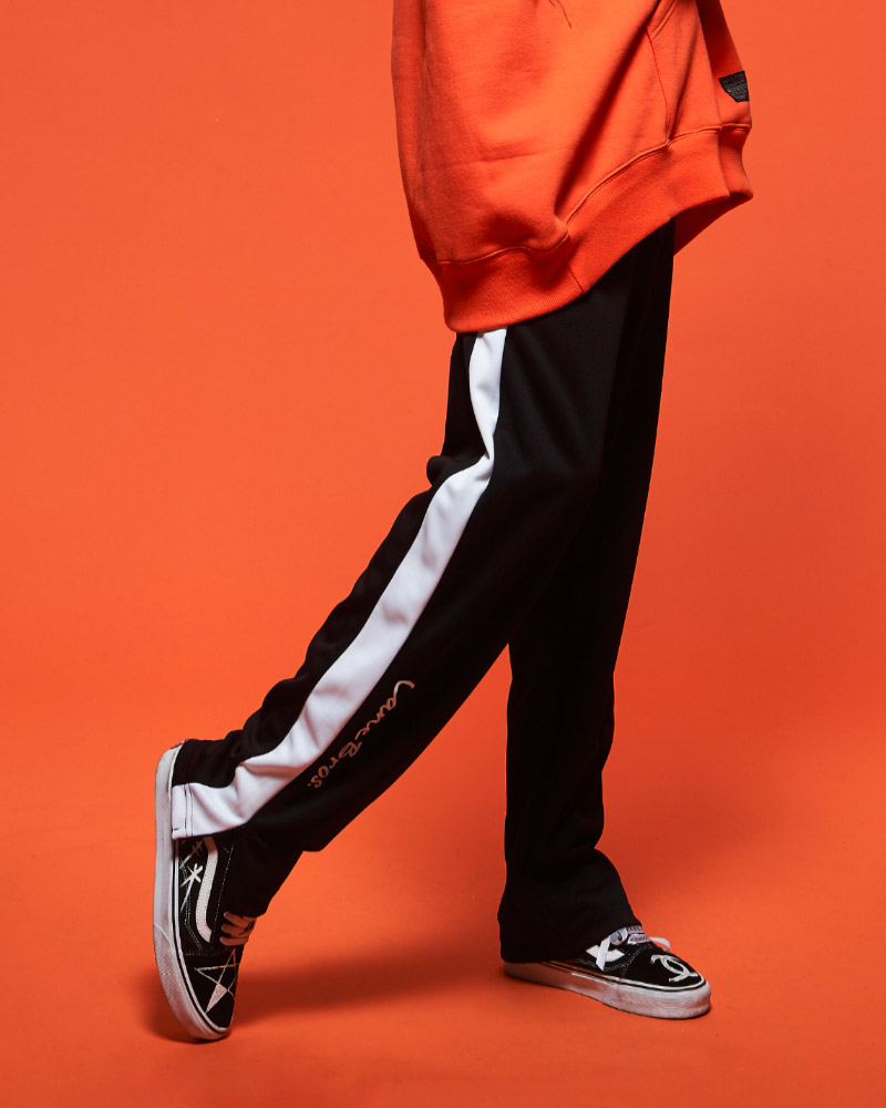 [CB] COLOR LINE WIDE TRACK PANTS_WH